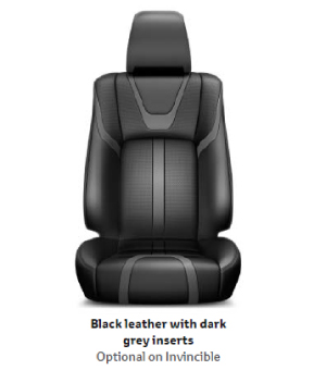 Black Leather with Dark Grey Inserts