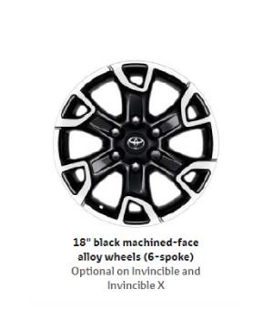 18 Black Machined-face Alloy Wheels(6-spoke)