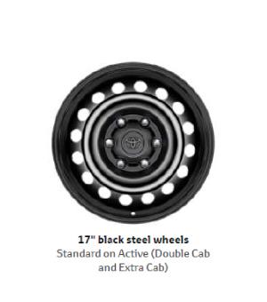 17 Black Steel Wheels
