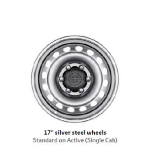 17 Silver Steel Wheels