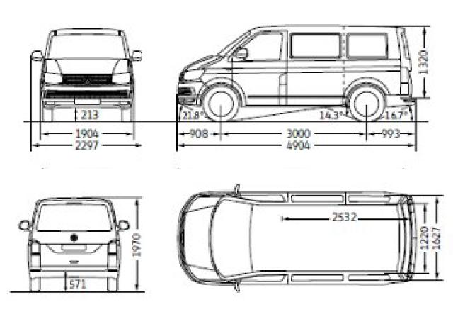 T6マルチバンの仕様(Multivan Comfortline)